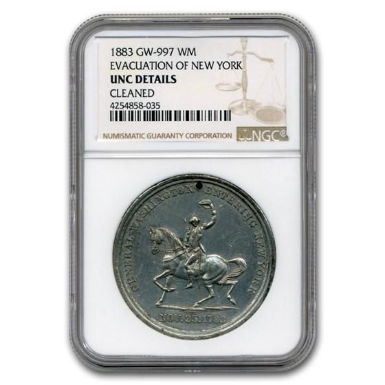 1883 Washington Medal UNC NGC (White Metal, Details)