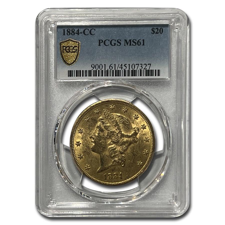 1884-CC $20 Liberty Gold Double Eagle MS-61 PCGS
