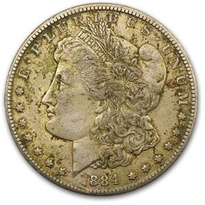 1884-CC Morgan Dollar AU Details (Scratched)