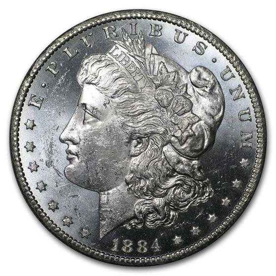 1884-CC Morgan Dollar BU (Prooflike)