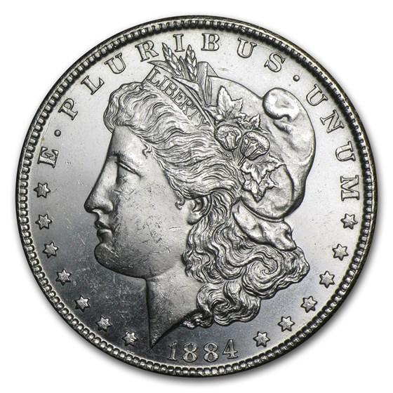 1884-CC Morgan Dollar BU