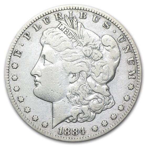 1884-CC Morgan Dollar Fine