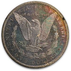 1884-CC Morgan Dollar MS-62 PL NGC (Toned, GSA)