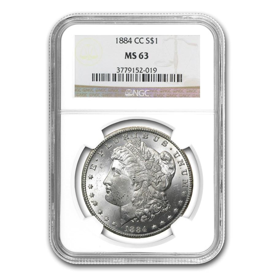 1884-CC Morgan Dollar MS-63 NGC