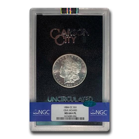 1884-CC Morgan Dollar MS-64+ NGC CAC ( GSA, PL)