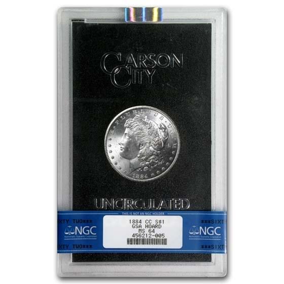 1884-CC Morgan Dollar MS-64 NGC (GSA)