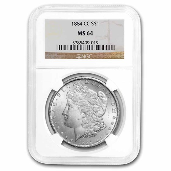 1884-CC Morgan Dollar MS-64 NGC