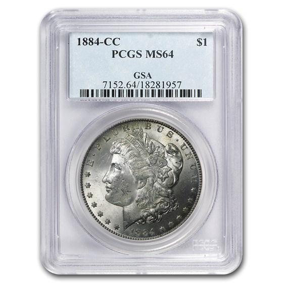 1884-CC Morgan Dollar MS-64 PCGS (GSA)