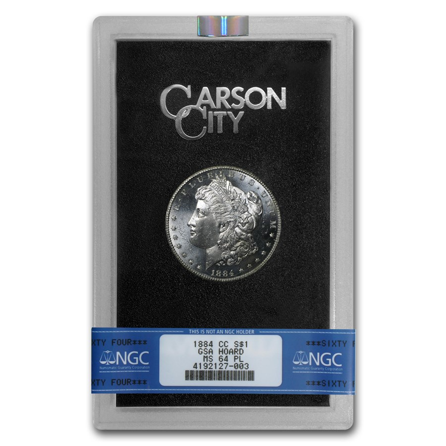 1884-CC Morgan Dollar MS-64 PL NGC (GSA)