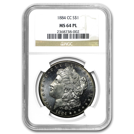 1884-CC Morgan Dollar MS-64 PL NGC