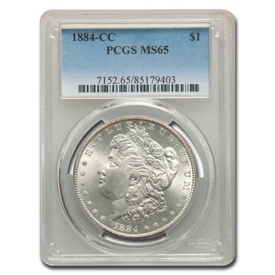 1884-CC Morgan Dollar MS-65 PCGS