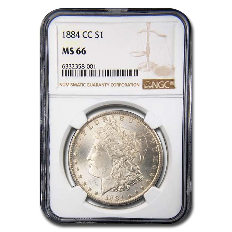 1884-CC Morgan Dollar MS-66 NGC