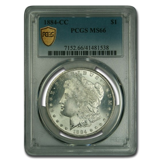 1884-CC Morgan Dollar MS-66 PCGS