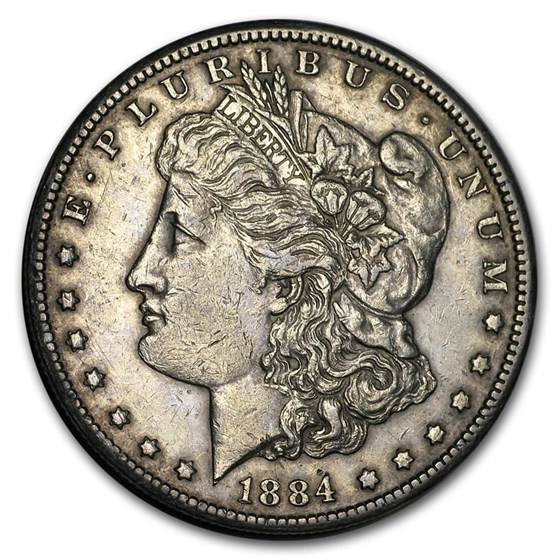 1884-CC Morgan Dollar XF