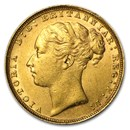 1884 Great Britain Gold Sovereign Victoria AU