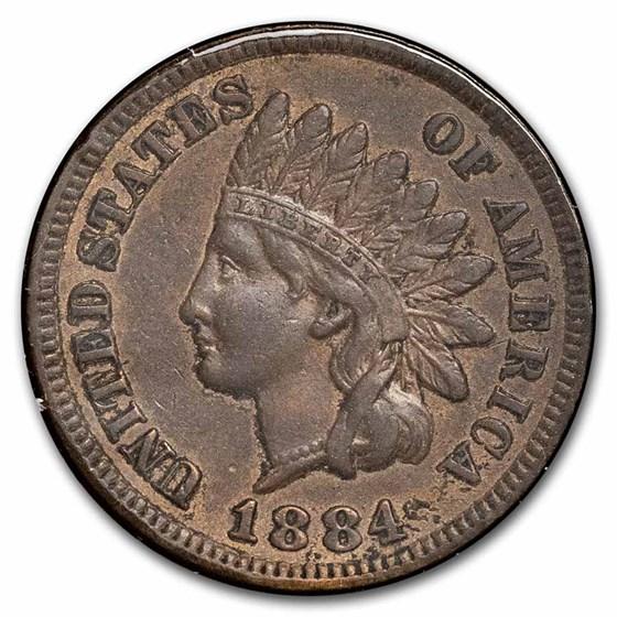 1884 Indian Head Cent AU