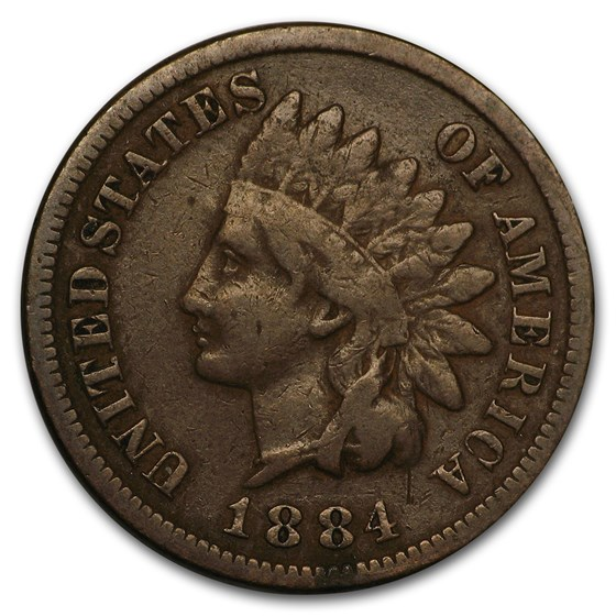 1884 Indian Head Cent Fine