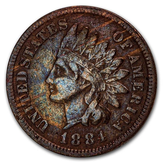 1884 Indian Head Cent XF (Cleaned, Corroded or Dmgd)