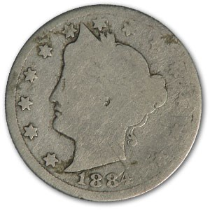 1884 Liberty Head V Nickel AG
