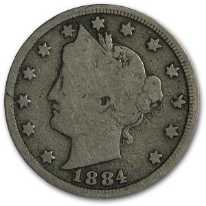 1884 Liberty Head V Nickel Good