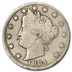 1884 Liberty Head V Nickel VG