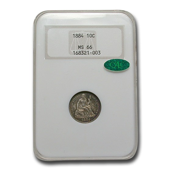 1884 Liberty Seated Dime MS-66 NGC CAC