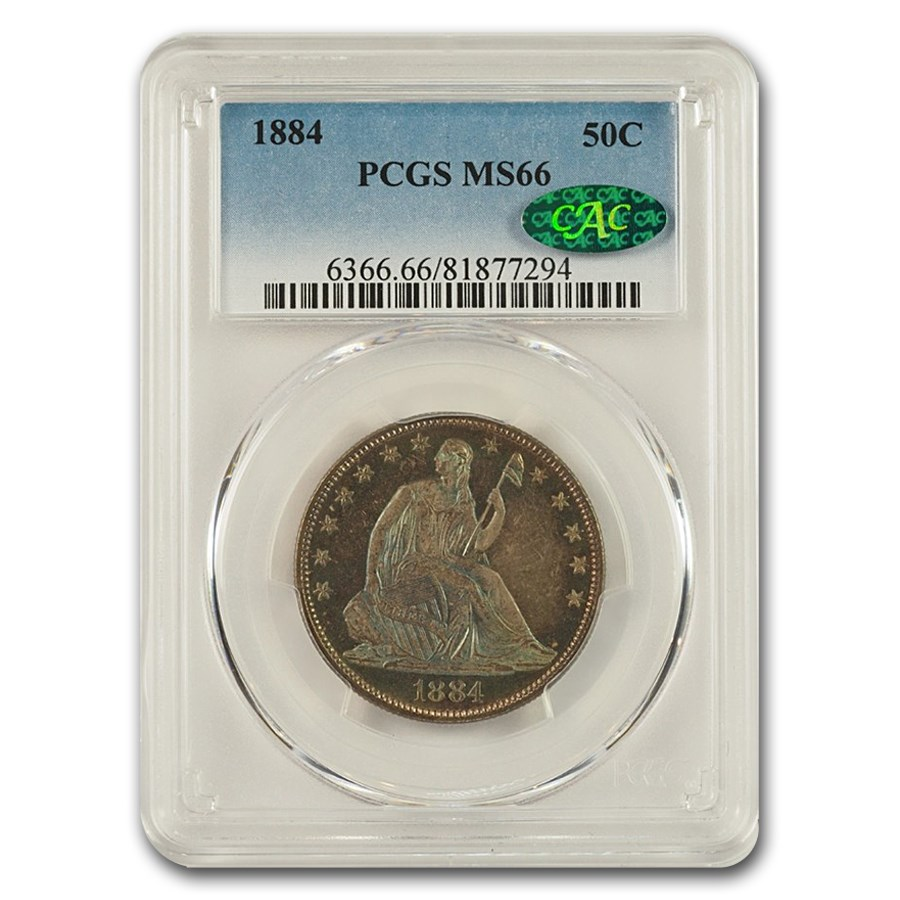 1884 Liberty Seated Half Dollar MS-66 PCGS CAC