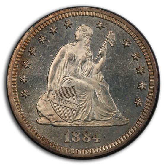 1884 Liberty Seated Quarter MS-64 PCGS (PL)