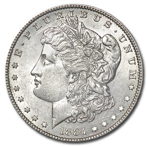 1884 Morgan Dollar AU
