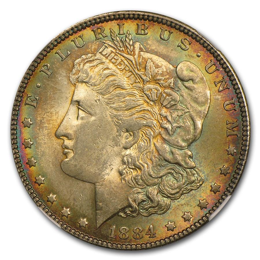 1884 Morgan Dollar MS-63 NGC (Album Toning)