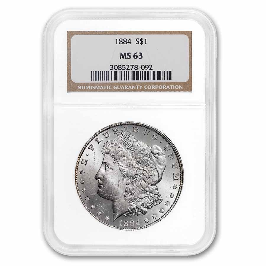 1884 Morgan Dollar MS-63 NGC