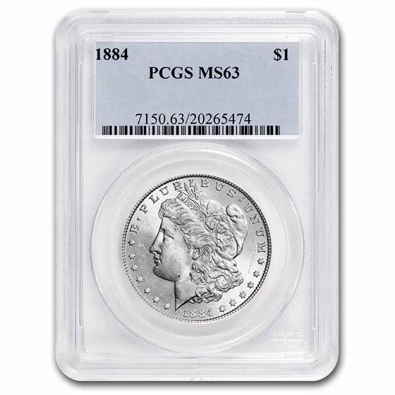 1884 Morgan Dollar MS-63 PCGS