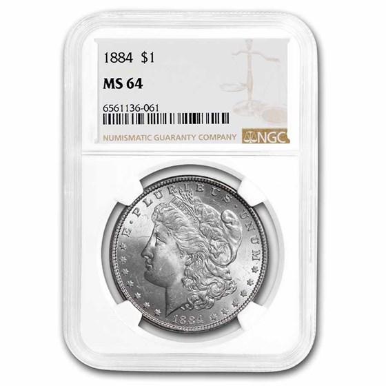 1884 Morgan Dollar MS-64 NGC