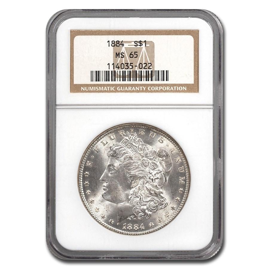 1884 Morgan Dollar MS-65 NGC