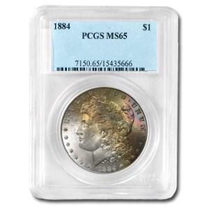 1884 Morgan Dollar MS-65 PCGS (Obv Toning)