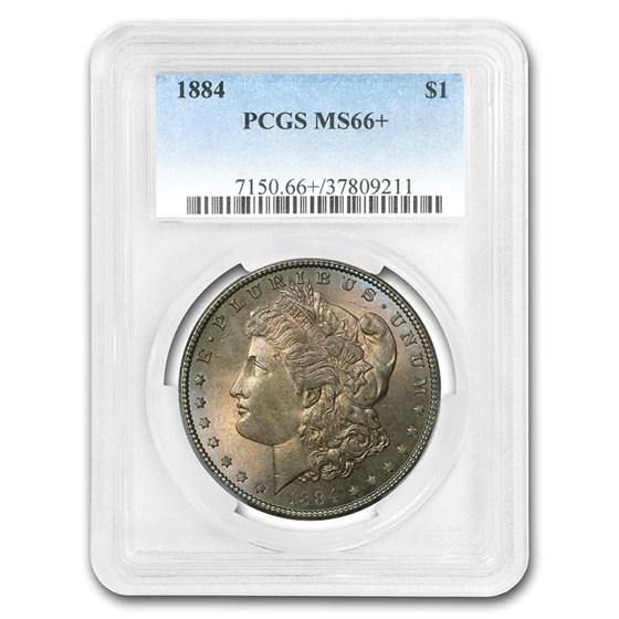 1884 Morgan Dollar MS-66+ PCGS (Toned)