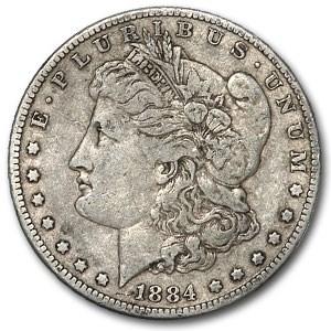1884 Morgan Dollar VF (VAM-4, Small Dot, Top-100)