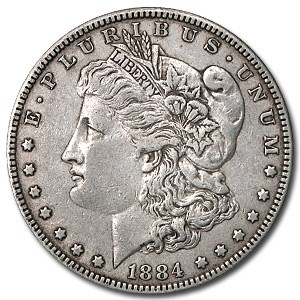 1884 Morgan Dollar XF