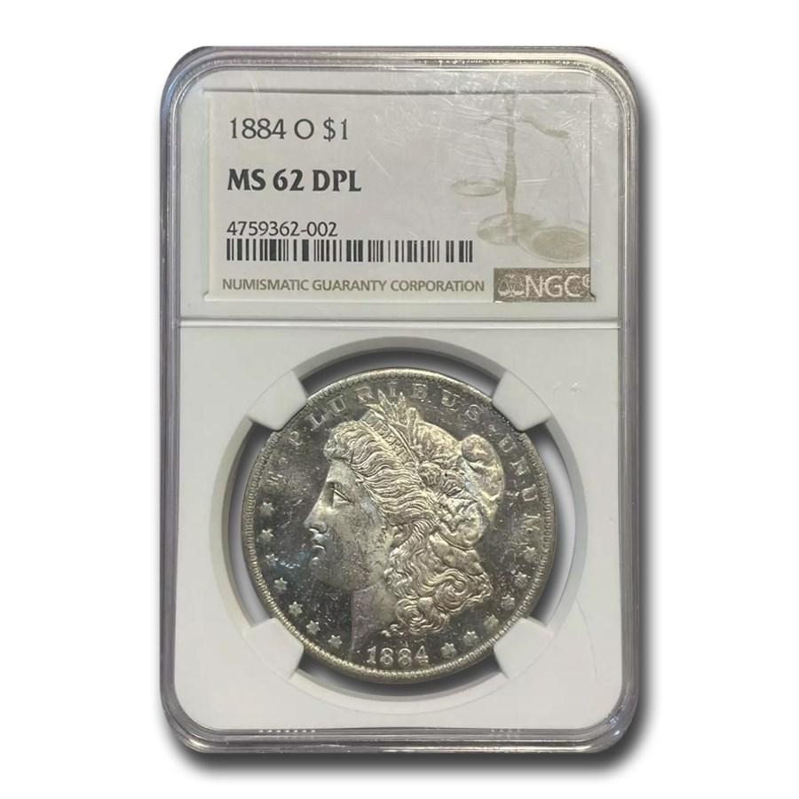 1884-O Morgan Dollar MS-62 DPL NGC