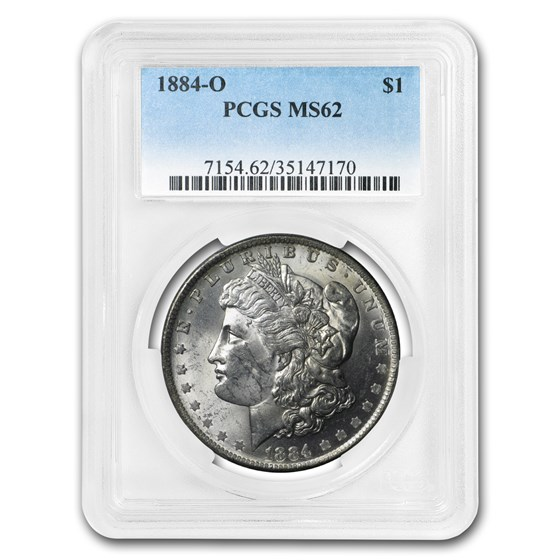1884-O Morgan Dollar MS-62 PCGS