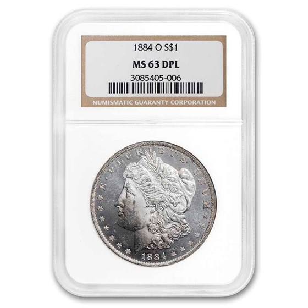 1884-O Morgan Dollar MS-63 DPL NGC