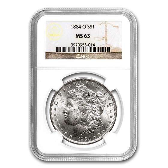 1884-O Morgan Dollar MS-63 NGC