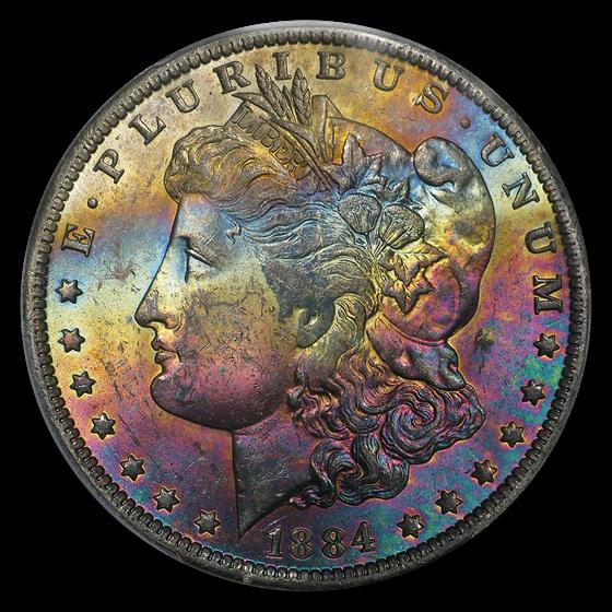 1884-O Morgan Dollar MS-63 PCGS (Beautfiully Toned)