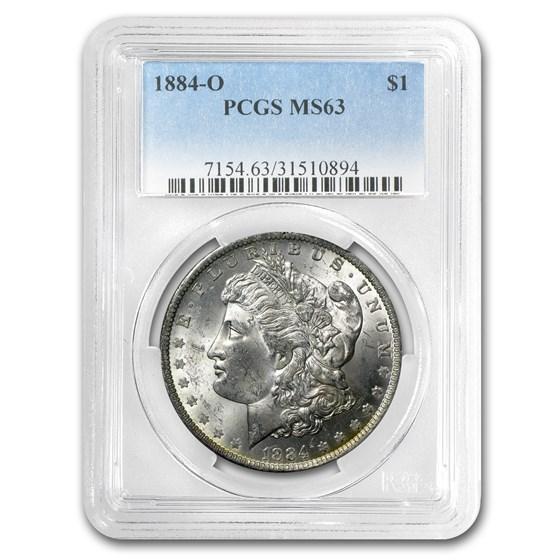 1884-O Morgan Dollar MS-63 PCGS (Nice Rev Toning)