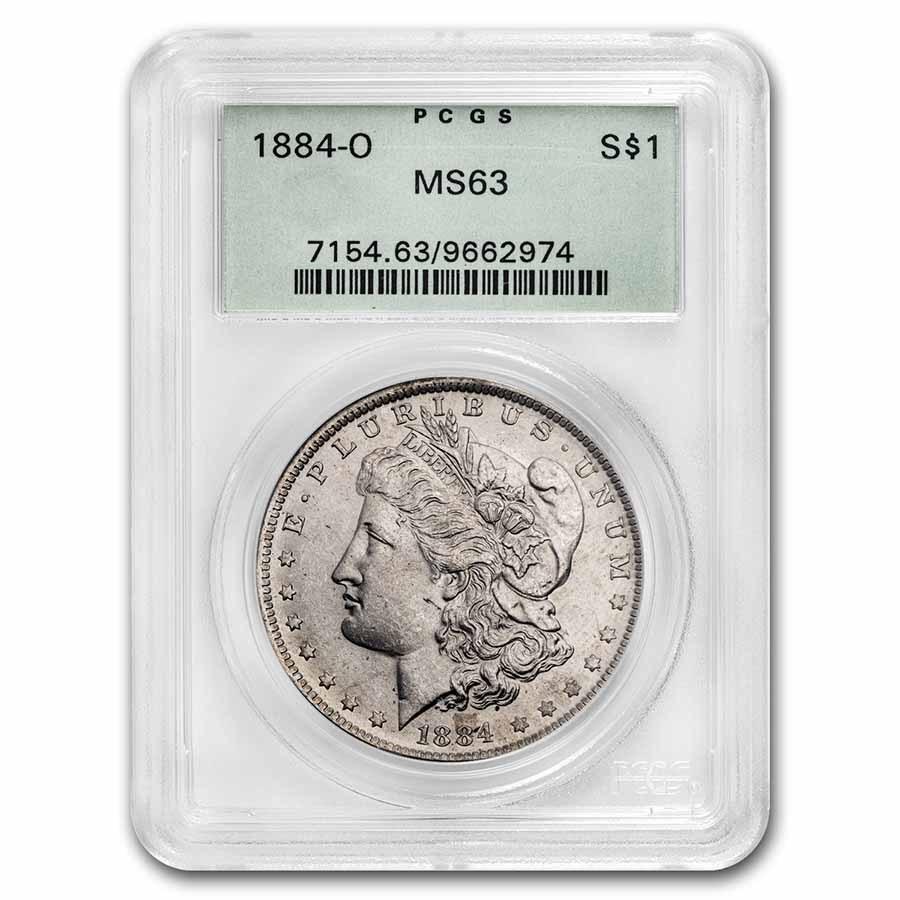 1884-O Morgan Dollar MS-63 PCGS (Old Green Label)