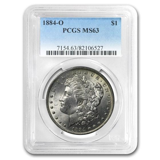 1884-O Morgan Dollar MS-63 PCGS (Rev Beautiful Toning)