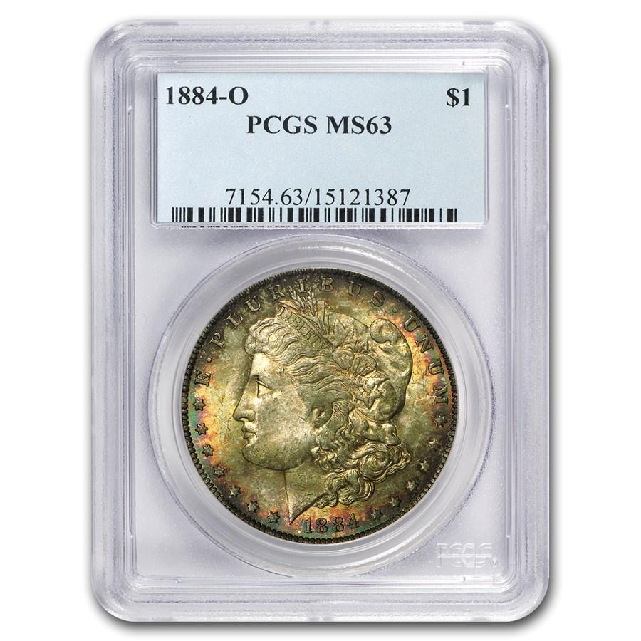 1884-O Morgan Dollar MS-63 PCGS (Rich Earth Tones)
