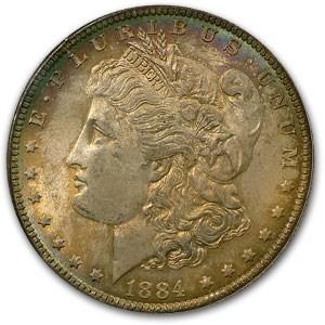 1884-O Morgan Dollar MS-63 PCGS (Rustic Toning)
