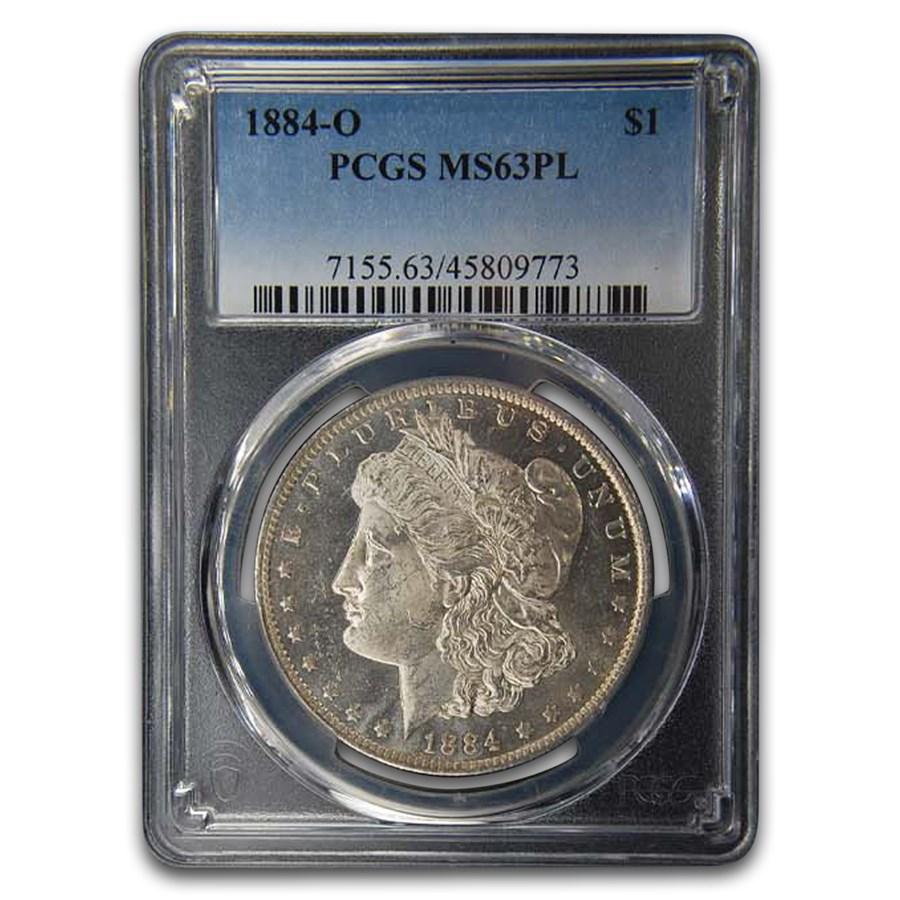 1884-O Morgan Dollar MS-63 PL PCGS