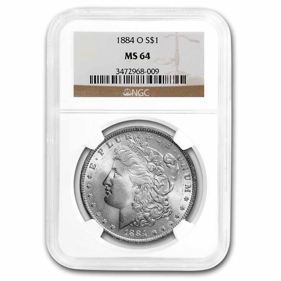 1884-O Morgan Dollar MS-64 NGC